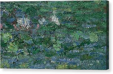 1874 Canvas Print - The Waterlily Pond Green Harmony by Claude Monet