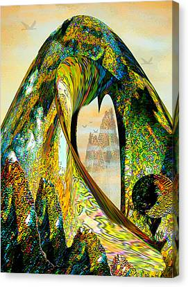 Parvati Canvas Print - The Wave And The Mountains by Michele Avanti