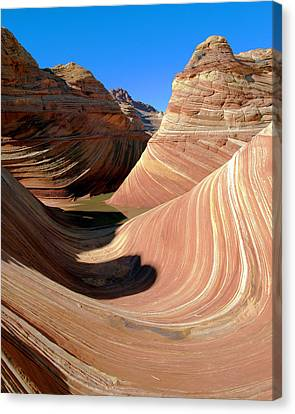 Canvas Print featuring the photograph 'the Wave' North Coyote Buttes 19 by Jeff Brunton