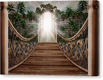 Jesus Canvas Print - The Way And The Gate by April Moen