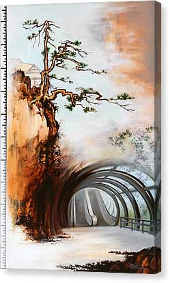 Canvas Print featuring the painting The Way by Dave Platford