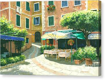 Portofino Cafe Canvas Print - The Way Home by Michael Swanson