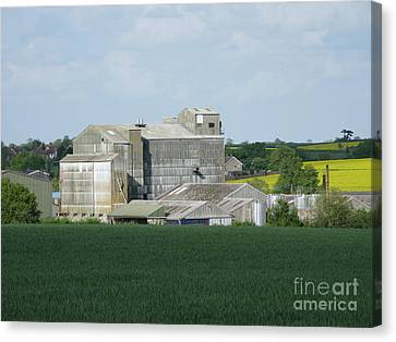 Feed Mill Canvas Print - The Way It Was by Ann Horn