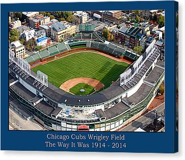 The Way It Was Chicago Cubs Wrigley Field 02 Canvas Print by Thomas Woolworth