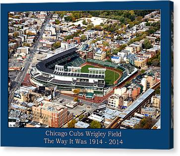 The Way It Was Chicago Cubs Wrigley Field 03 Canvas Print by Thomas Woolworth