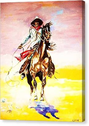 The Way Of The Vaquero Canvas Print by Al Brown