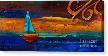 Canvas Print featuring the mixed media The Way You Should Go by Shevon Johnson