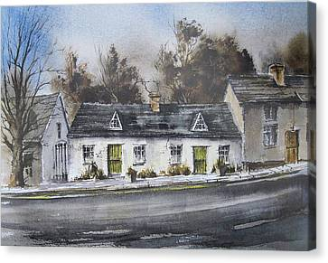 Canvas Print - The Weaver's Cottages by Roland Byrne