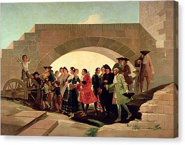 Tapestries - Textiles Canvas Print - The Wedding, 1791-92 Oil On Canvas by Francisco Jose de Goya y Lucientes
