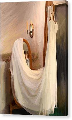 The Wedding Gown Is Ready Canvas Print by Angela A Stanton