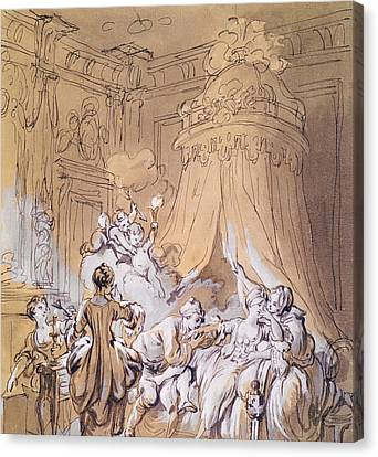 The Wedding Night Canvas Print by Pierre Antoine Baudouin