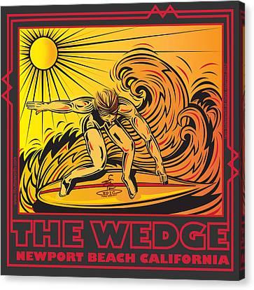The Wedge Newport Beach California Canvas Print