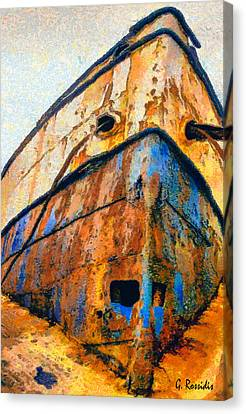 The Weeping Boat Canvas Print by George Rossidis