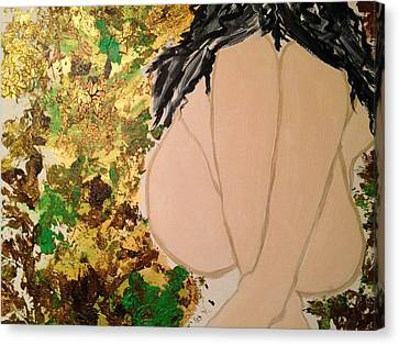 The Weeping Girl Canvas Print by Rachna  Beri