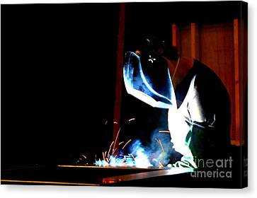 The Welder Canvas Print by Shelia Kempf