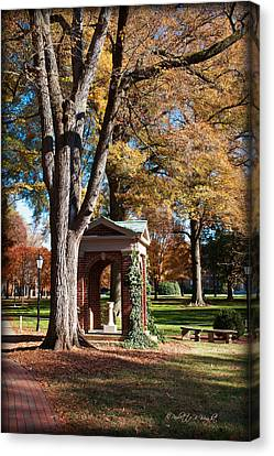 The Well - Davidson College Canvas Print by Paulette B Wright