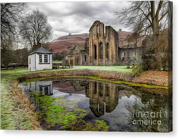 The Welsh Abbey Canvas Print by Adrian Evans
