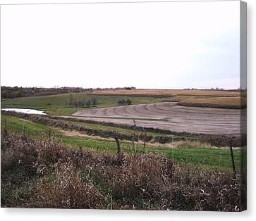 Canvas Print featuring the photograph The West Fields by J L Zarek