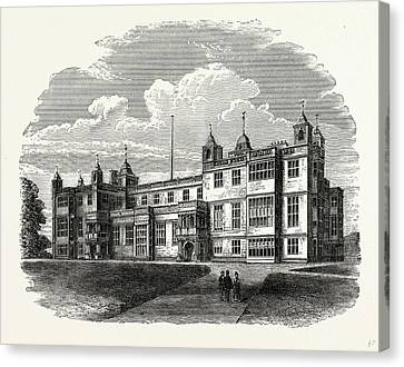 The West Front, Audley End, Uk, England, Engraving 1870s Canvas Print by Litz Collection