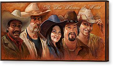 The West Welcomes The World Canvas Print by Gini Heywood