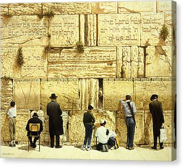 Orthodox Canvas Print - The Western Wall  Jerusalem by Graham Braddock