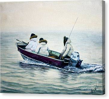 The Whale Hunters Canvas Print by Joey Nash