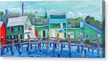 The Wharf In August Canvas Print by Maria Milazzo