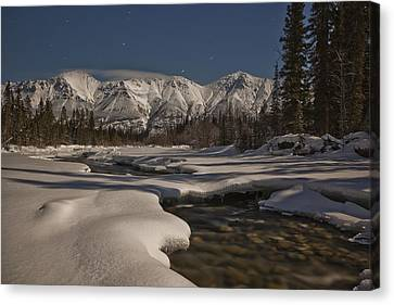 The Wheaton River Valley Lit By The Canvas Print by Robert Postma