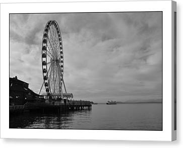 The Wheel And The Ferry Canvas Print by Kirt Tisdale