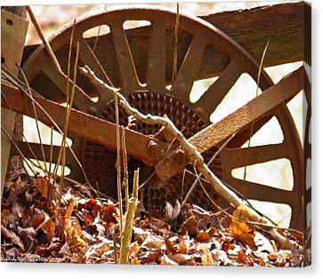 Canvas Print featuring the photograph The Wheel Of Planting by Nick Kirby