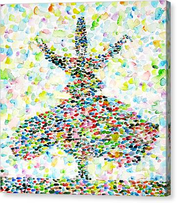 The Whirling Sufi Canvas Print by Fabrizio Cassetta