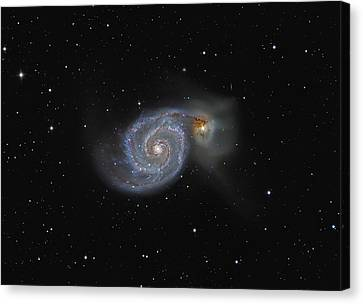 The Whirlpool Galaxy Canvas Print by Brian Peterson