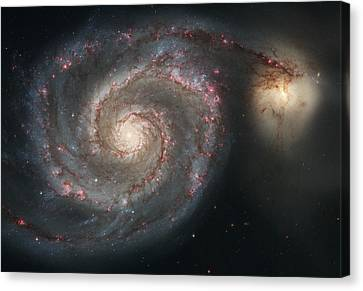 The Whirlpool Galaxy M51 Canvas Print by Celestial Images