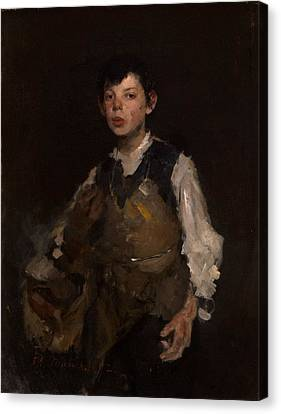 The Whistling Boy, 1902 Oil On Canvas Canvas Print by Frank Duveneck