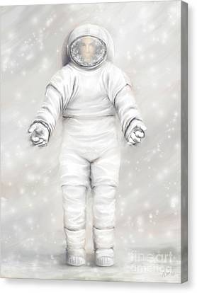 The White Astronaut Canvas Print
