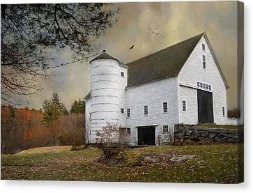 The White Barn Canvas Print by Robin-Lee Vieira