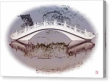 The White Bridge Canvas Print by Roger Smith