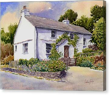 The White Cottage Canvas Print by Anthony Forster
