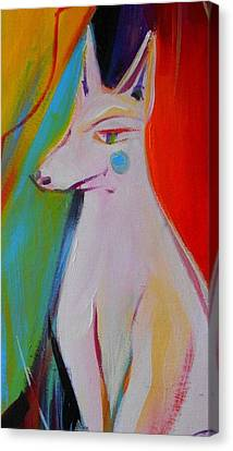 The White Dog  Canvas Print by Marlene LAbbe