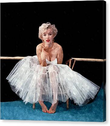 The White Dress Of Marilyn Canvas Print