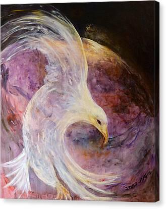 The White Eagle Canvas Print by Shoshana Donaya