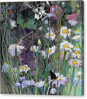 The White Garden Canvas Print by Claire Spencer