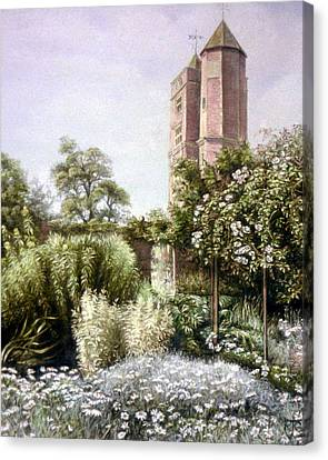 Canvas Print featuring the painting The White Garden by Rosemary Colyer