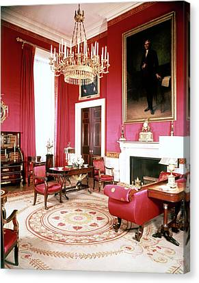 The White House Red Room Canvas Print by Tom Leonard