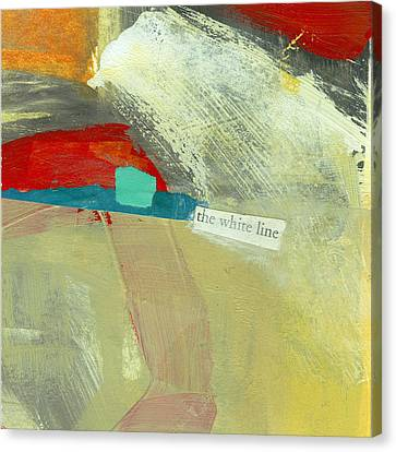 The White Line Canvas Print by Jane Davies