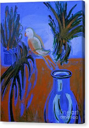 The White Parakeet Canvas Print