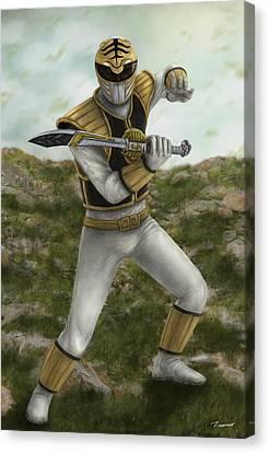 The White Ranger Canvas Print by Michael Tiscareno