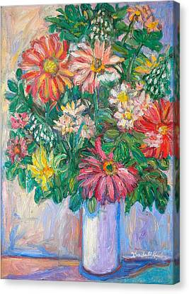 The White Vase Canvas Print by Kendall Kessler