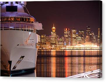 The White Yacht Canvas Print by Sabine Edrissi