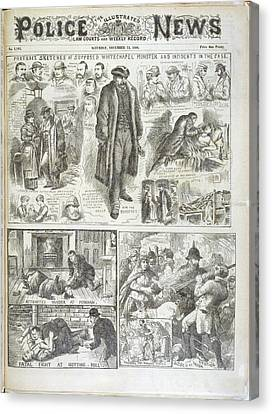 The Whitechapel Monster Canvas Print by British Library